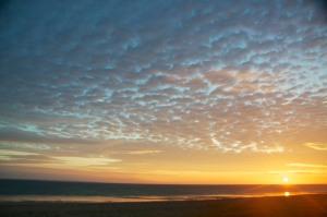 Sonnenuntergang Lindbergh Plage St-Lô-d'Ourville / Portbail